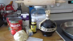 Ingredients sweet tomato tart