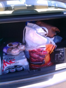 food in trunk