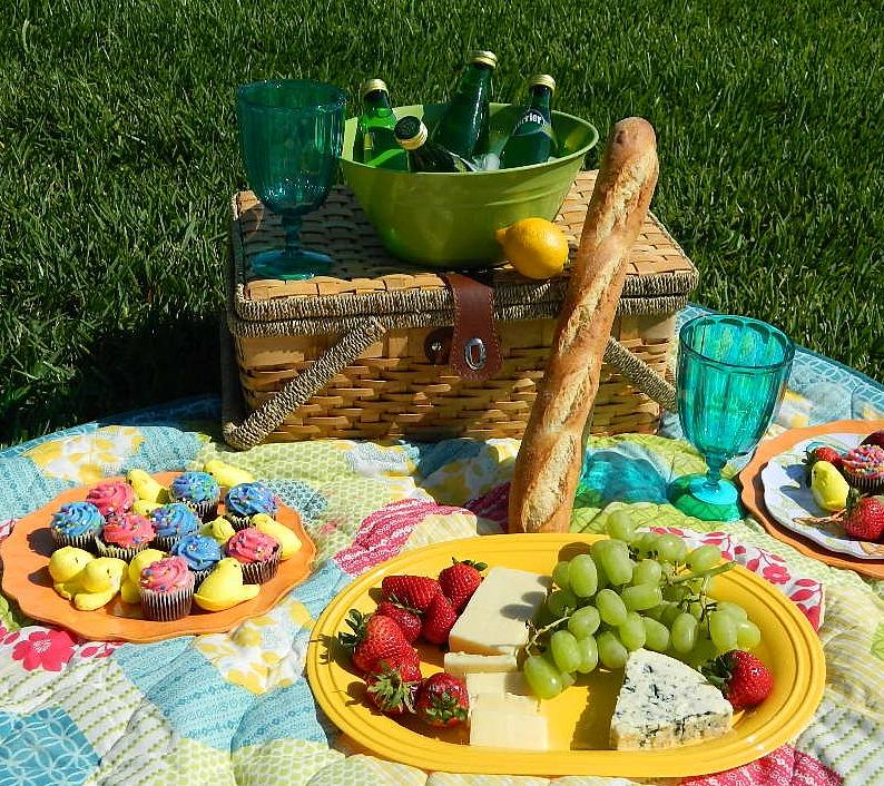 elegant spring picnic