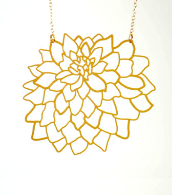 Dahlia Pendant Necklace
