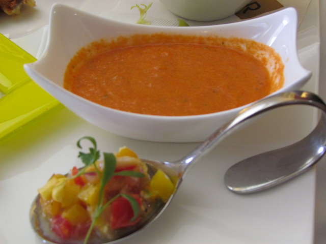 Fresh summer gazpacho