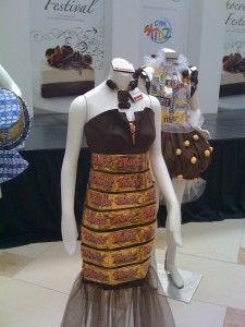 chocolate clothing sculpture