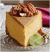 Pumpkin-pecan cheesecake – fall for this dessert