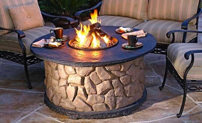 Outdoor Fire Pit Champagne Living