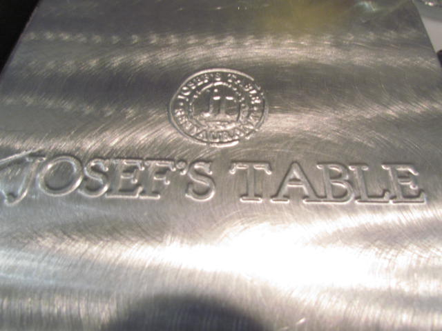 Josef's Table's Prix Fixe menu