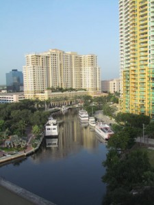 View from my balcony at the Riverside Hotel on Las Olas