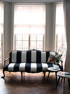 black & white sofa