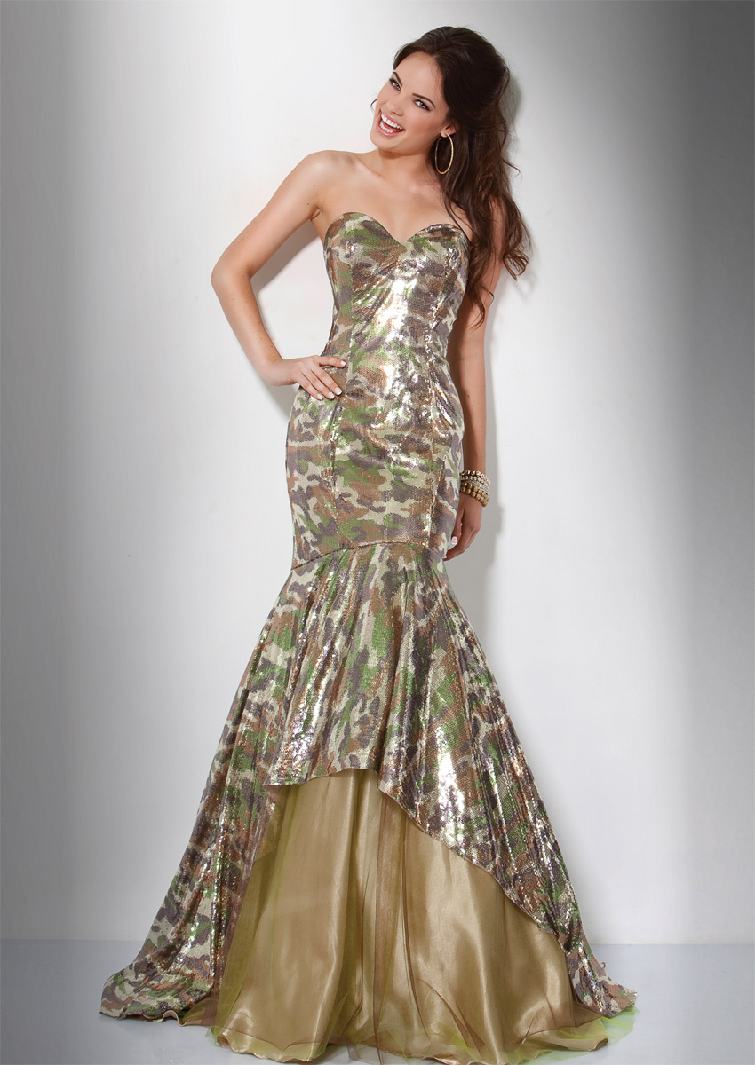 camo gown