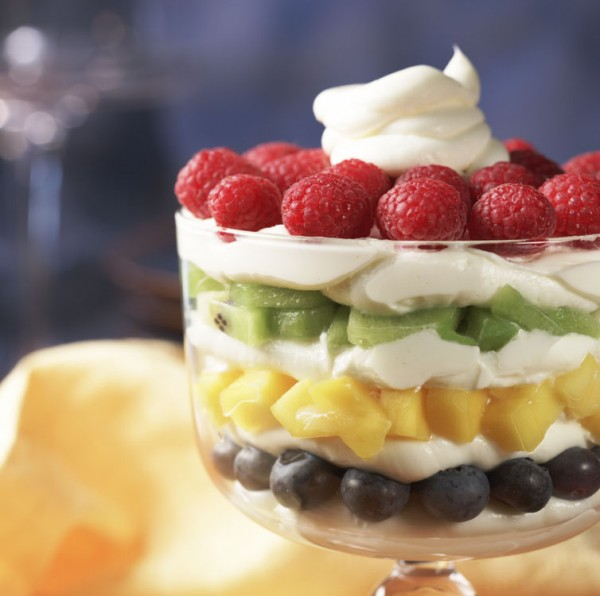 hawaiian fruit fruit parfait