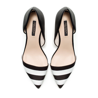 Black & White Combination heels - Zara