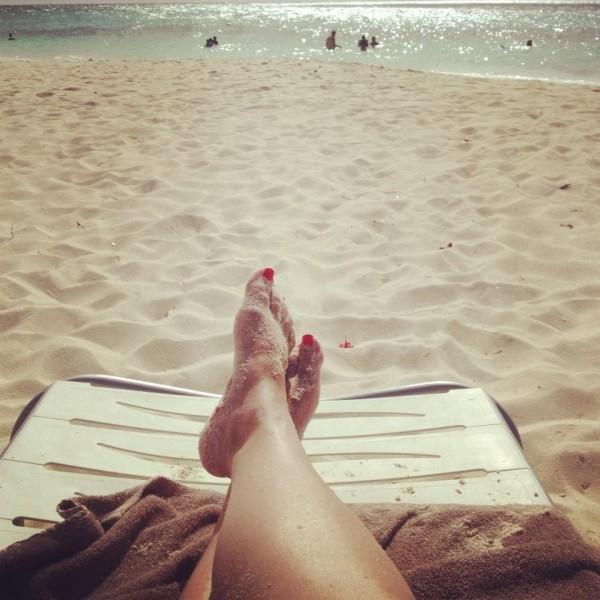 beach feet - Aruba