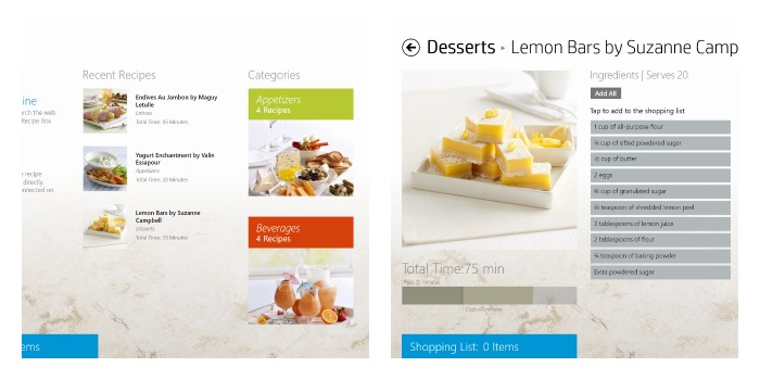 recipe box Collage