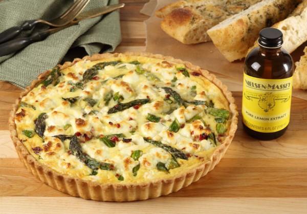 asparagus tomato & Goat cheese tart