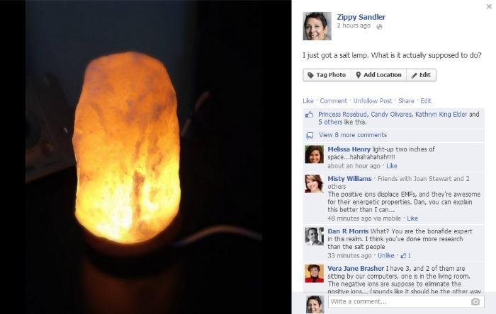 salt lamp FACEBOOK