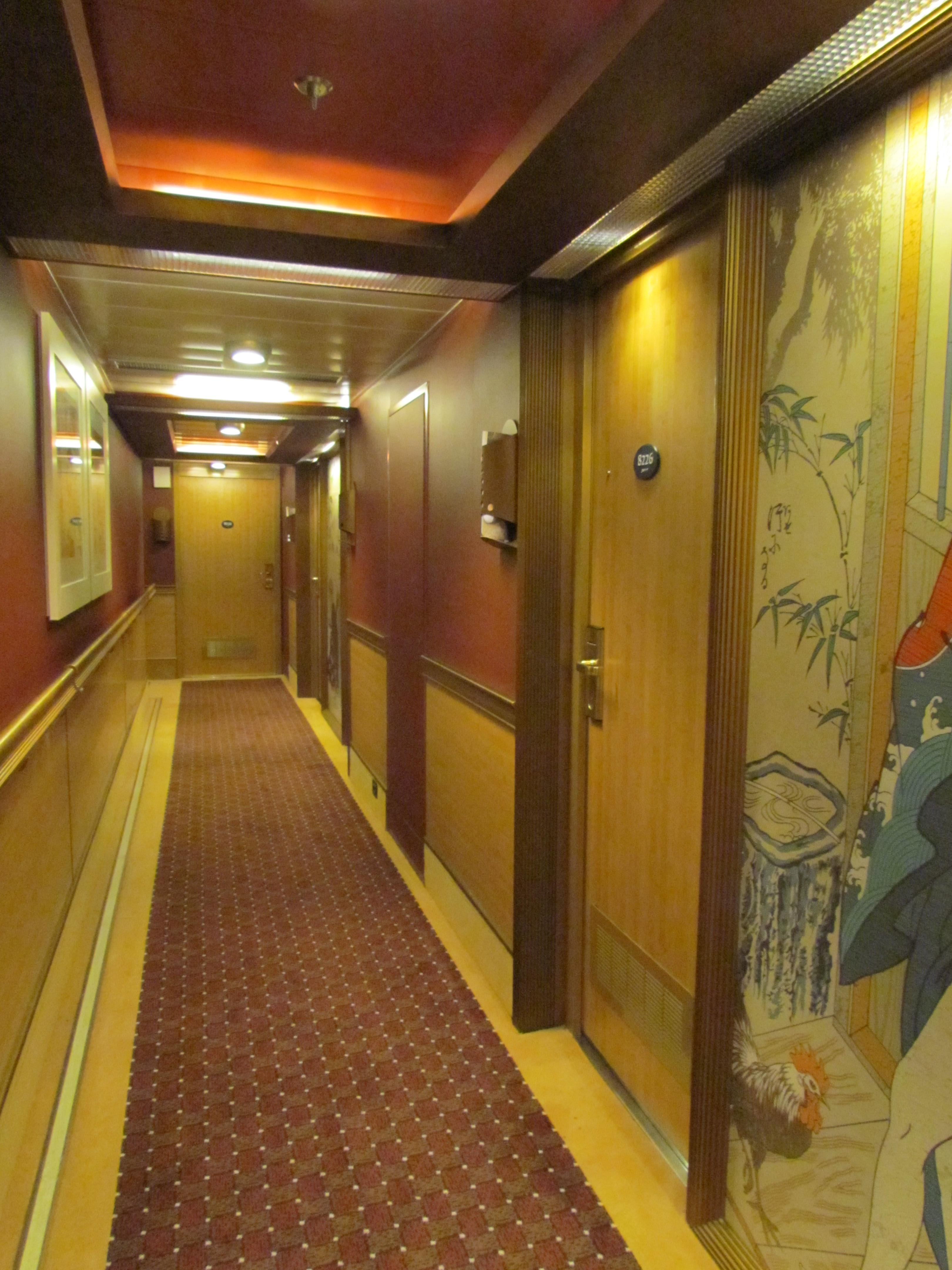The cabin hallway.