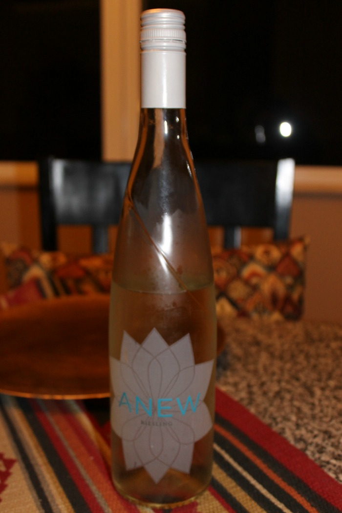 anew Reisling bottle