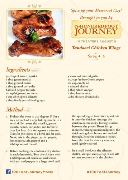 hundred foot journey recipe