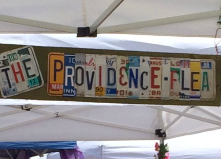 the providence flea sign