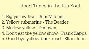 kia soul road tunes