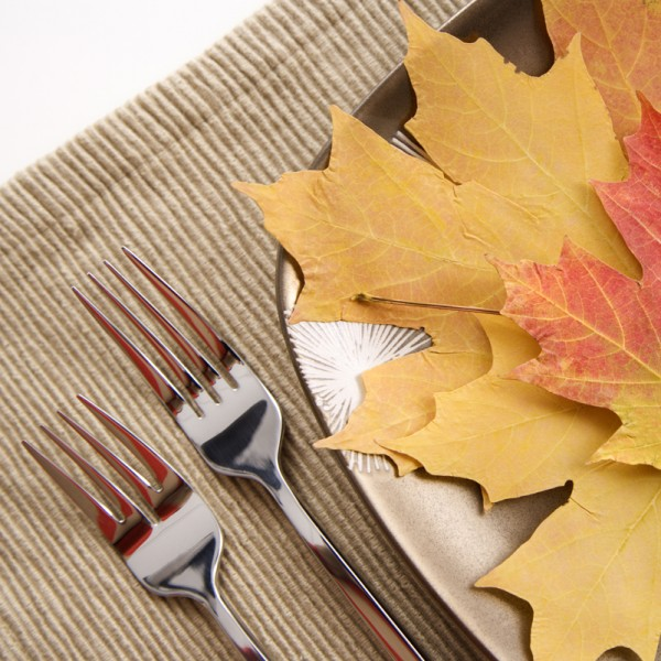Fall place setting.