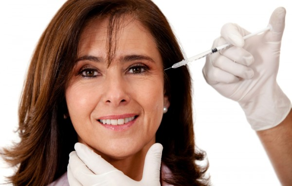 Woman getting a face lift