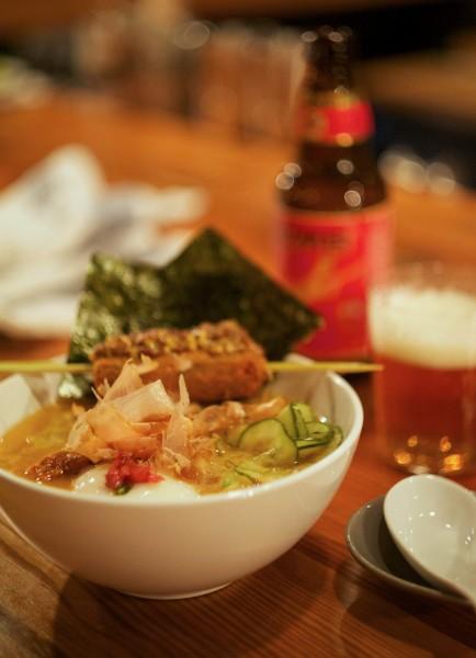 logan square, ramen, poser, pig tail, cucumber, egg, ume boshi, bonito nori