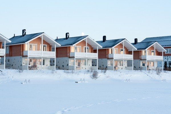 Lodges in snow