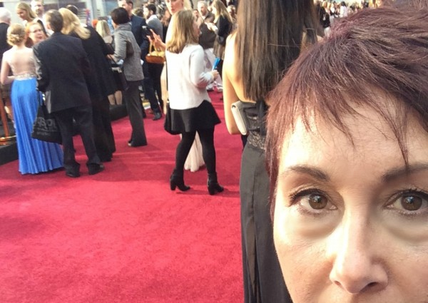 red carpet selfie