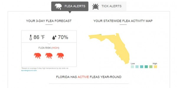 flea and tick map