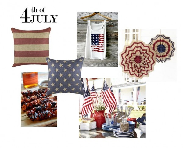 4th of july collage