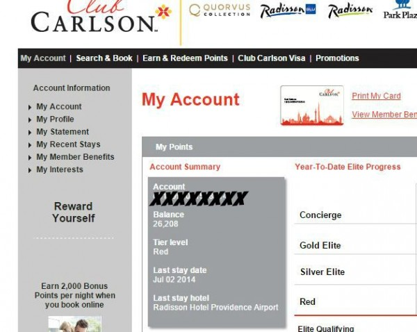 OMG - I'm LOW on points. Time to start building them up again with a great Radisson vacation.