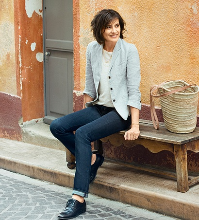 Ines de la Fressange for Uniqlo - at 57 she's still sexy