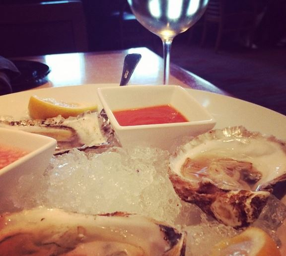 Oysters at Libations in the Radisson Hotel Providence (actually in Warwick).