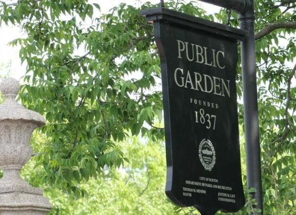 public garden sign