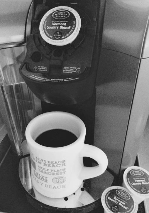 black & white coffee