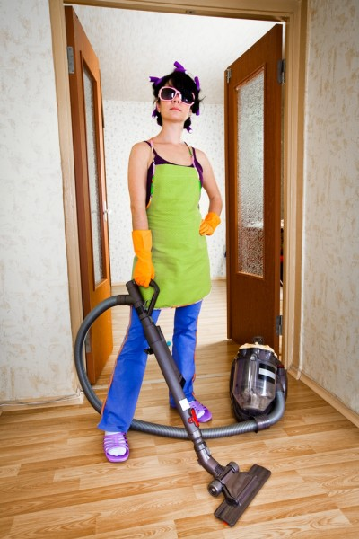 the glamorous life vacuuming