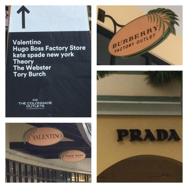 The colonnades outlet Collage