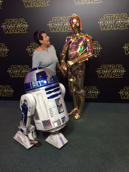 hanging with C3PO and R2D2