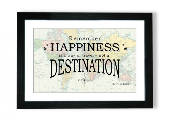 Travel Quote Map Print