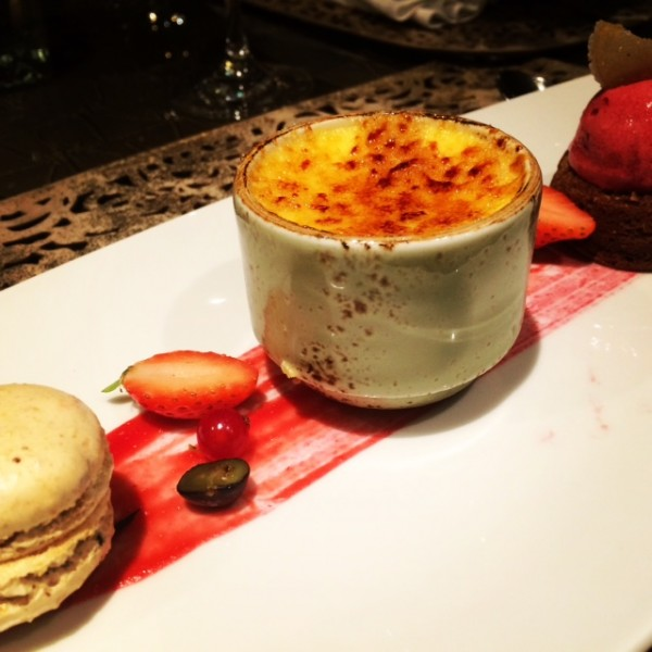 dessert at the chef's table