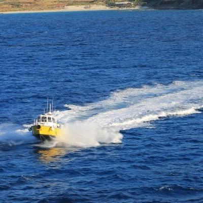 Pulling into port – St Maarten