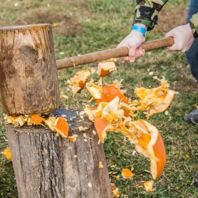 Family fun: National pumpkin destruction day