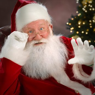 I just got to sit on Santa's Lap!