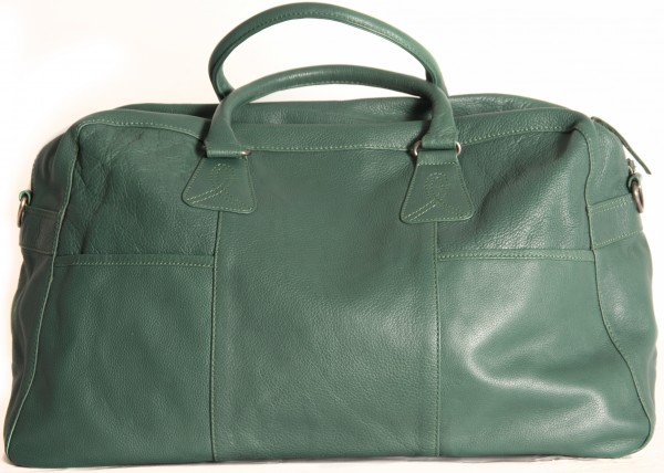 Shona Easton Atlanta Emerald Leather Overnight Bag