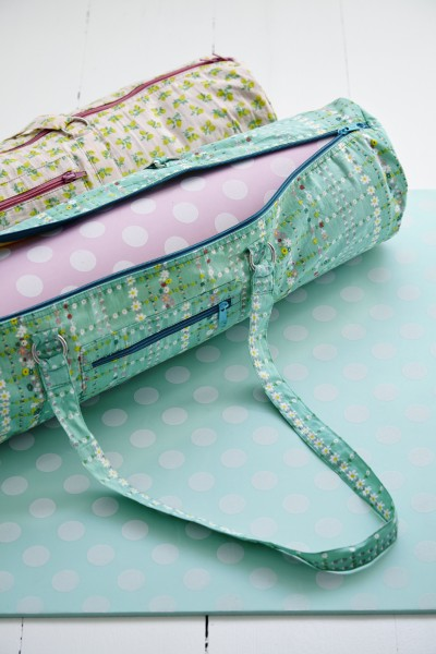 Yoga Bag Retro Flower Print - Rice DK
