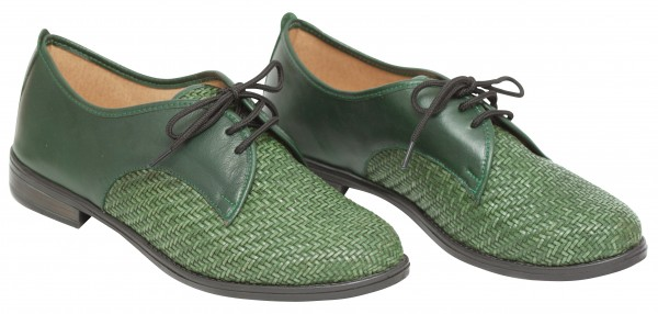 green woven oxford shoes loafers BangiShop on DaWanda.com
