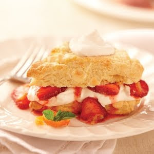 White Chocolate Scones with Citrus Strawberries