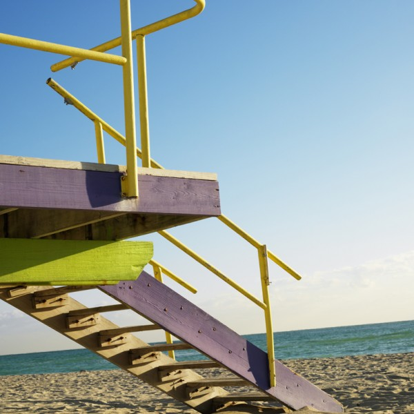 Lifeguard tower, Miami, Florida.