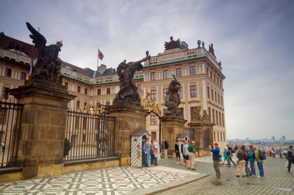 Prague's castle entrance