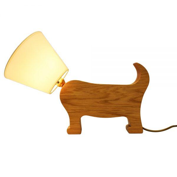 Dog Lamp in Oak